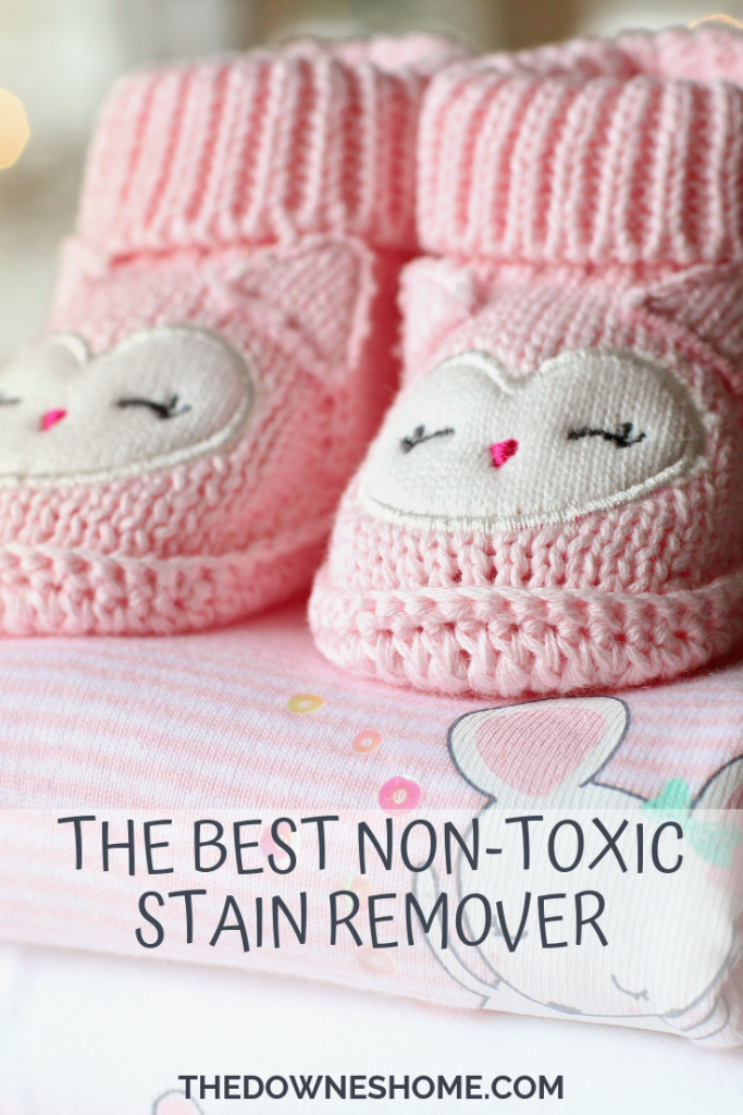 Non-toxic stain remover clothing.
