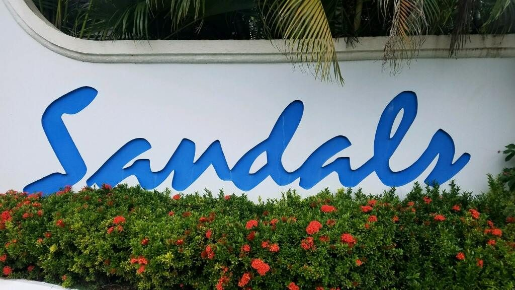 Entrance to Sandals Negril