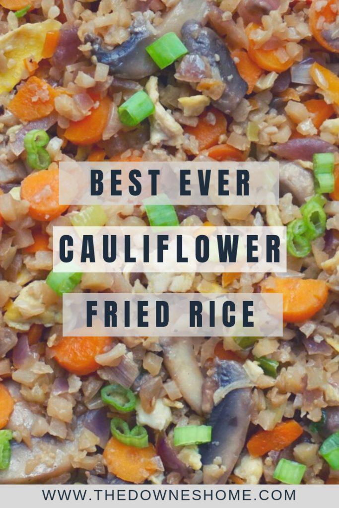 Cauliflower Fried Rice Pinterest pin.