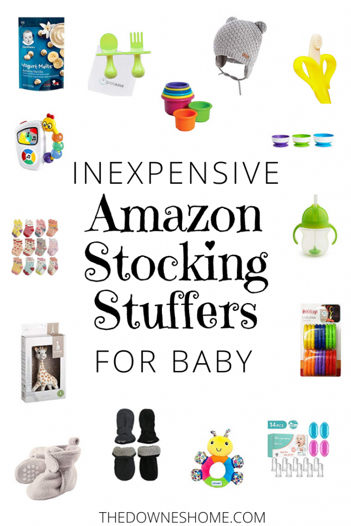 Inexpensive Amazon Stocking Stuffers for him - collage of items.