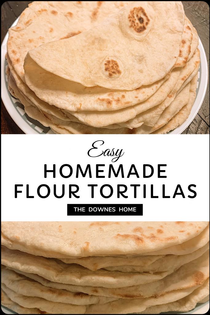 Stack of flour tortillas.