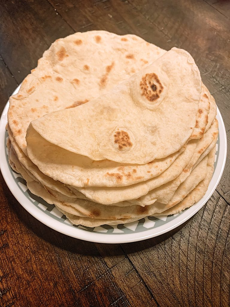 Stack of tortillas.