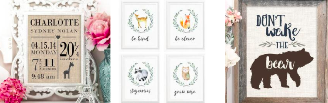 Gift print ideas for babies/kids
