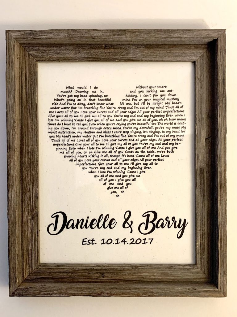 Personalized wedding song gift