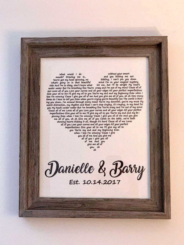 Gift in frame
